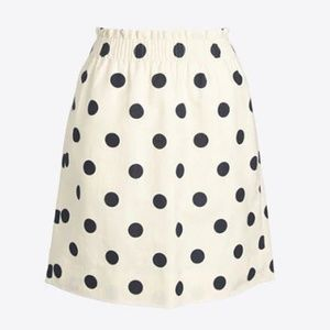 J. Crew Factory Skirts - J. Crew Factory Sidewalk Mini Skirt Polka Dot